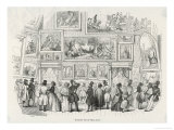 Louvre Salon 1843 Giclee Print by E. Forest