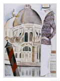 An Elegant Sightseer Contemplates the Elegance of Venice Giclee Print by Hubert Giron