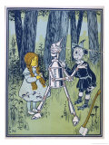 Wizard of Oz: Dorothy Oils the Tin Woodman's Joints Giclee Print by W.w. Denslow