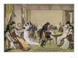 Wealthy Parisians Indulge in Gambling at Home Giclee Print by Gaulard 