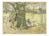 The Gamekeeper Has Spotted a Gang of Trespassers: are They Poachers Giclee Print by Francis Bedford