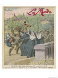 Nuns Tied to Bridge Giclee Print by Eugene Damblans