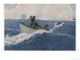 The Chase of the Bow-Head Whale Giclee Print by Clifford W. Ashley