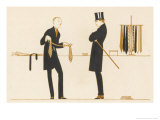 Gentleman Chooses a Tie to Purchase Giclee Print by Bernard Boutet De Monvel