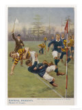Nearly In!, a Timely Tackle Prevents an Attacking Player from Scoring a Try Giclee Print by S.t. Dadd