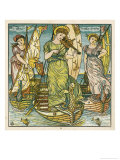 I Saw Three Ships Come Sailing by on New Year's Day in the Morning Giclee Print by Walter Crane