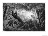 An Explosion of Firedamp in a Coal Mine Giclee Print by Felix Jean Gauchard