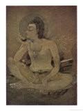 The God Shiva Saves Humanity by Drinking the Pois Giclee Print by Nanda Lal Bose