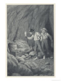 Tom Huck and the Treasure Giclee Print by Worth Brehm