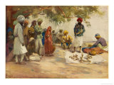 An Indian Snake Charmer and His Audience Giclee Print by Frank Dean