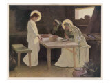 Jesus and His Parents at the Supper Table Giclee Print by Frank V. Du