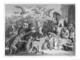 Summoned to the Royal Court by King Noble (The Lion) the Animals Gather for Reinecke's Trial Giclee Print by W. French