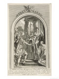 Ambrose and Theodosius Giclee Print by C.n. Cochin