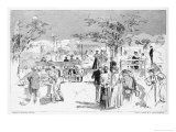 Lawn Tennis in India at a Hill Station Club Giclee Print by Reginald Cleaver