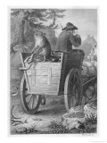Reinecke Steals Fish from the Fisherman's Cart Giclee Print by W. French