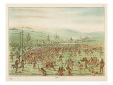 Large Crowd of Native Americans Play Lacrosse Giclee Print by George Catlin
