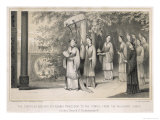 The Empress of China During the Annual Ceremony Commemorating the Invention of Silk Weaving Giclee Print by J.w. Giles