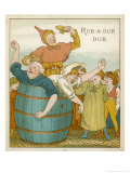 Rub-A-Dub Dub Three Men in a Tub Giclee Print by Edward Hamilton Bell