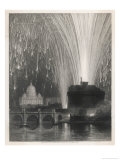 Firework Display Giclee Print by W.b. Cooke