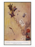 """Automatic Suffragette Exterminating Pillar-Box"", a Comment on Militant Suffragettes Giclee Print by Dudley Buxton"