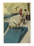 Defending a Ship Against a Pirates' Boarding-Party Giclee Print by Howard Pyle