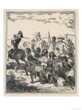 Kinnaister and His Fellow- Convicts Murder Aborigines in New South Wales Giclee Print by  Phiz