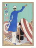 What Does One Wear on a Yacht Giclee Print by  Berlinger