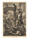 The Fall of Rome Alaric's Visigoths Sack Rome Displaying a Deplorable Lack of Esthetic Appreciation Giclee Print by Sanesi