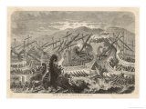 At Salamis the Greek Fleet Defeats the Persian Fleet Giclee Print by H. Leutemann