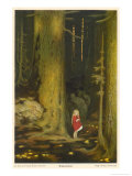 Little Girl in Big Forest Giclee Print by Hugo Grimm