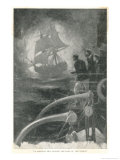 Spectral Ship Crossed the Bows of the Vessel Giclee Print by E.s. Hodgson