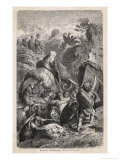 Second Punic War: Hannibal Crosses the Alps with His Elephants Premium Giclee Print by H. Leutemann