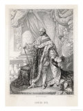 Louis XVI King of France 1774-1792 Full Length in Royal Robes Giclee Print by H.c. Muller