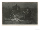 Blackbeard Blackbeard (Edward Teach) Buries His Treasure Premium Giclee Print by Howard Pyle