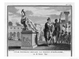 Caesar Weeps Before the Statue of Alexander Reproduction procédé giclée par Augustyn Mirys