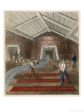 Liquid Metal from the Blast Furnace Running on the Smelting-House Floor to Form Pig Iron Giclee Print by James Reynolds