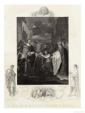 William Duke of Normandy Receives the Crown of England from Church and State Giclee Print by J. Rogers