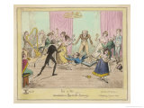 Accidents in Quadrille Dancing Mishaps to Avoid on the Dance Floor Giclee Print by George Cruikshank