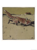 The Fox Premium Giclee Print by Ludwig Hohlwein