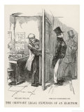 The Ordinary Legal Expenses of an Election Giclee Print by John Leech