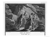 After Being Defeated by the Triumvirate at Philippi Brutus Kills Himself by Running Giclee Print by Augustyn Mirys