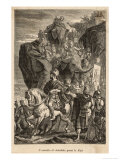 Second Punic War: Hannibal Descends into Italy after Crossing the Alps with His Elephants Giclee Print by  Sanesi
