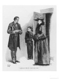 Case of Identity Holmes Receives a Visit from Mary Sutherland Giclee Print by Sidney Paget