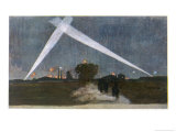 Night Sky Over the Trenches Giclee Print by Colombo Josef