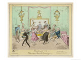 Moulinet, a Quadrille Step with Linked Hands Giclee Print by George Cruikshank