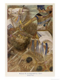 Rameses II (The Great) Egyptian Ruler Goes into Battle with His Tame Lion Giclee Print by Evelyn Paul