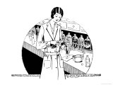 Pharmacist in the Dispensary Giclee Print by Dill