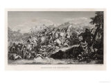 Alexander the Great Defeats Persians on the River Granicus Giclee Print by A. Lefevre