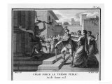 Julius Caesar Having Entered Rome Forces the Public Treasury Giclee Print by Augustyn Mirys