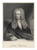 Sir Isaac Newton Mathématicien, Physiciste, Occultiste Reproduction procédé giclée par William Holl
